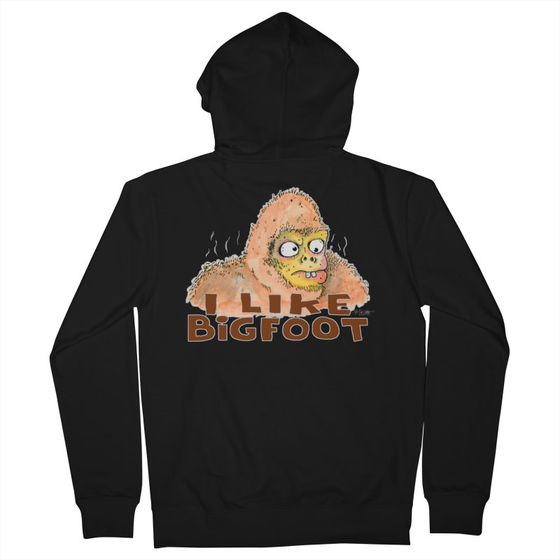 I Like Bigfoot Men's French Terry Zip-Up Hoody by Bad Otis Link's Artist Shop