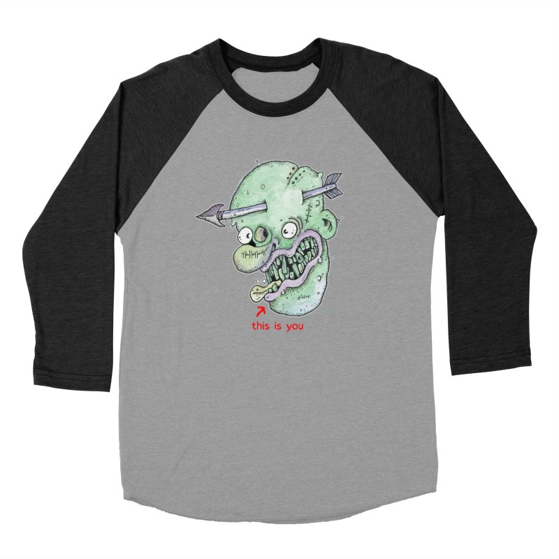 This Is You Women's Baseball Triblend Longsleeve T-Shirt by Bad Otis Link's Artist Shop