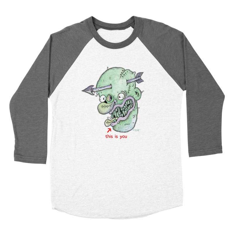 This Is You Men's Baseball Triblend Longsleeve T-Shirt by Bad Otis Link's Artist Shop