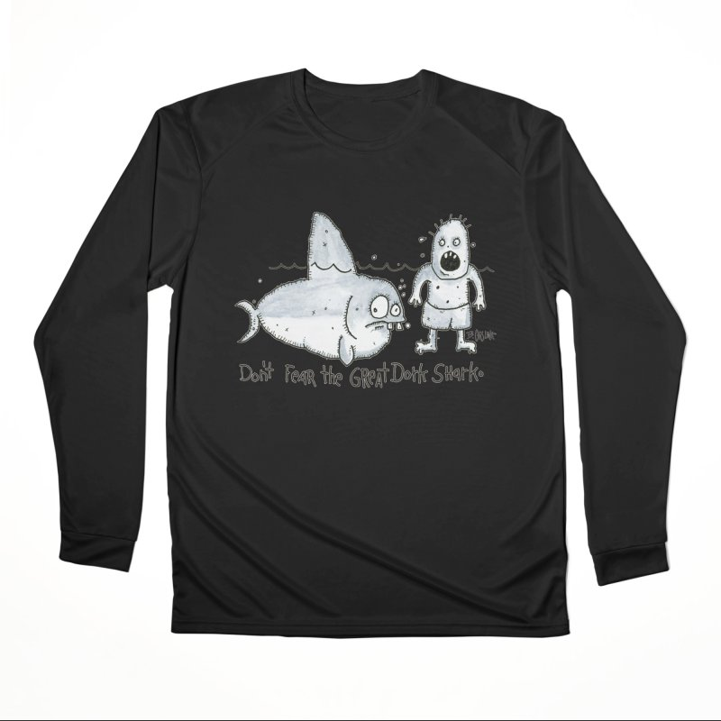 Great Dork Shark Women's Performance Unisex Longsleeve T-Shirt by Bad Otis Link's Artist Shop