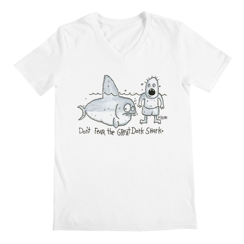 Great Dork Shark Men's V-Neck by Bad Otis Link's Artist Shop