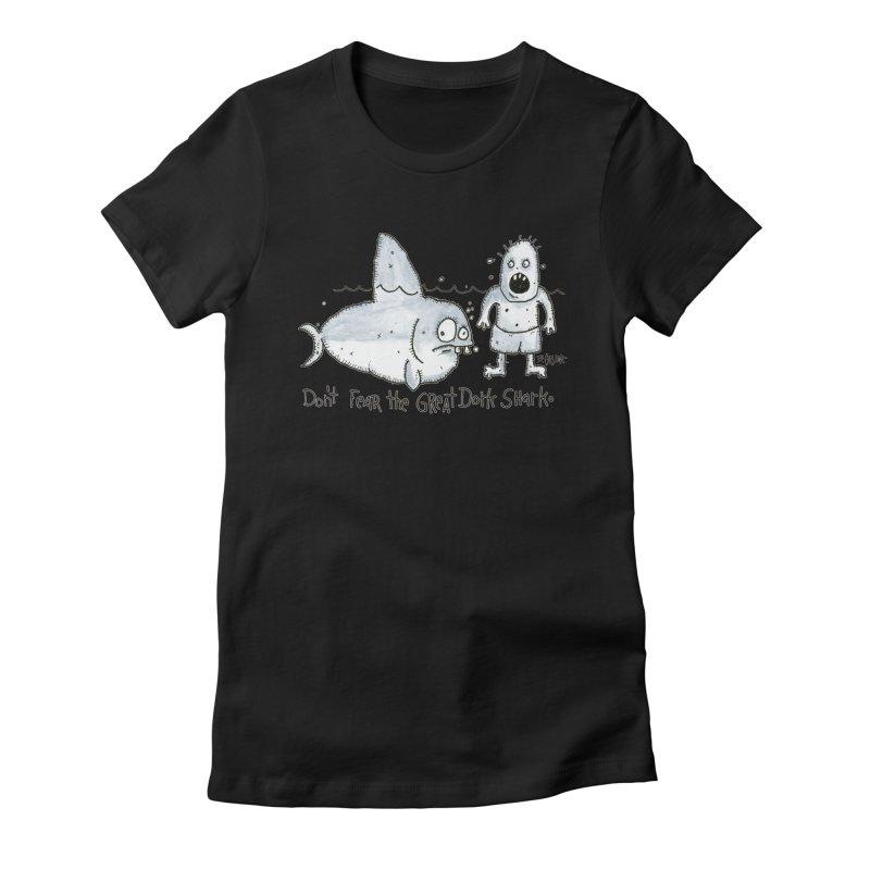 Great Dork Shark Women's T-Shirt by Bad Otis Link's Artist Shop