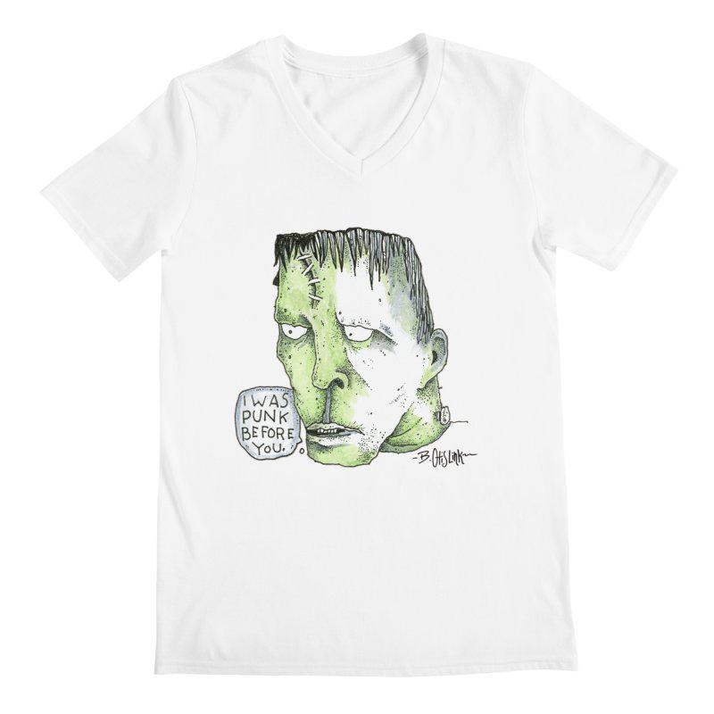 I Was Punk Before You. Men's V-Neck by Bad Otis Link's Artist Shop