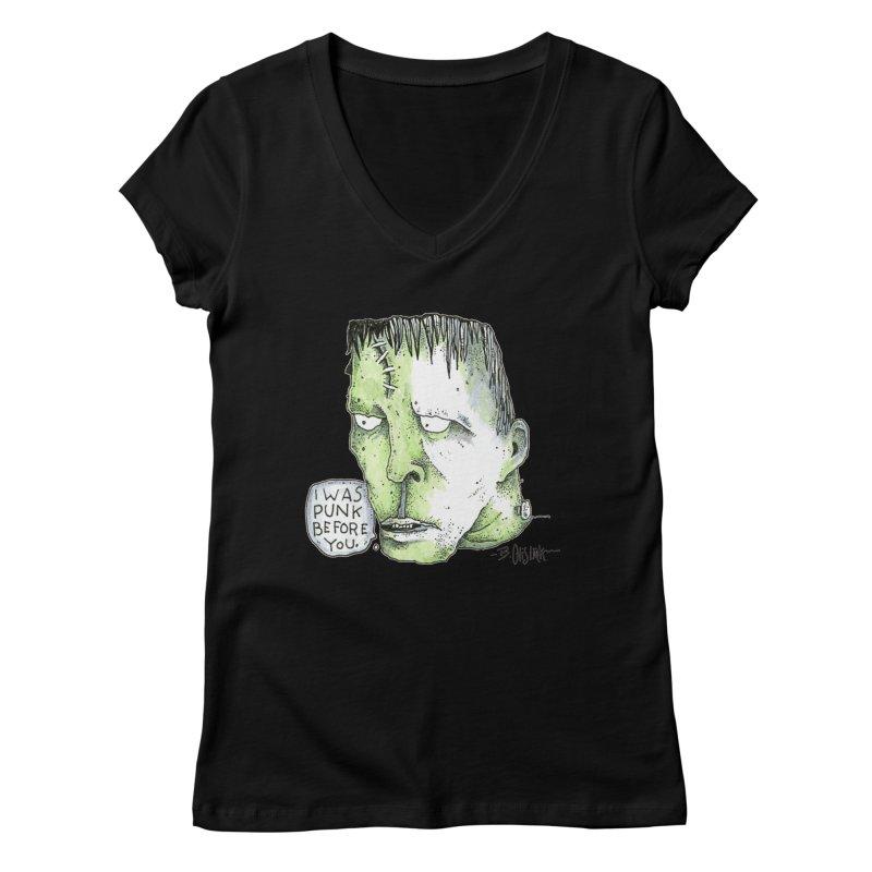 I Was Punk Before You. Women's V-Neck by Bad Otis Link's Artist Shop