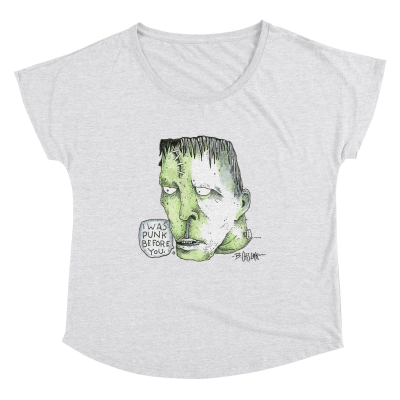I Was Punk Before You. Women's Scoop Neck by Bad Otis Link's Artist Shop