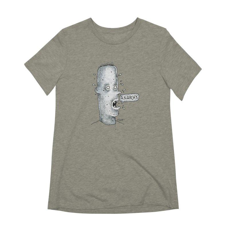 Anarchy Dude Women's T-Shirt by Bad Otis Link's Artist Shop
