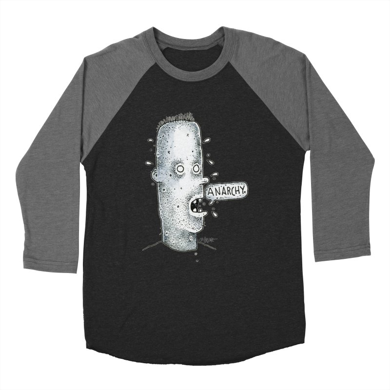 Anarchy Dude Women's Baseball Triblend Longsleeve T-Shirt by Bad Otis Link's Artist Shop