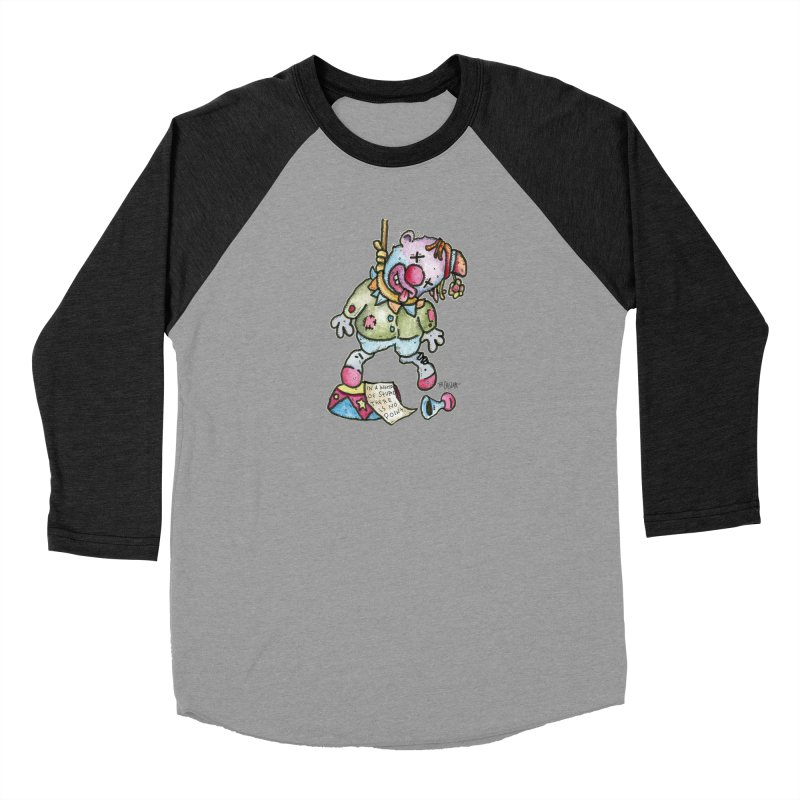 Take Out The Clowns. Women's Baseball Triblend Longsleeve T-Shirt by Bad Otis Link's Artist Shop