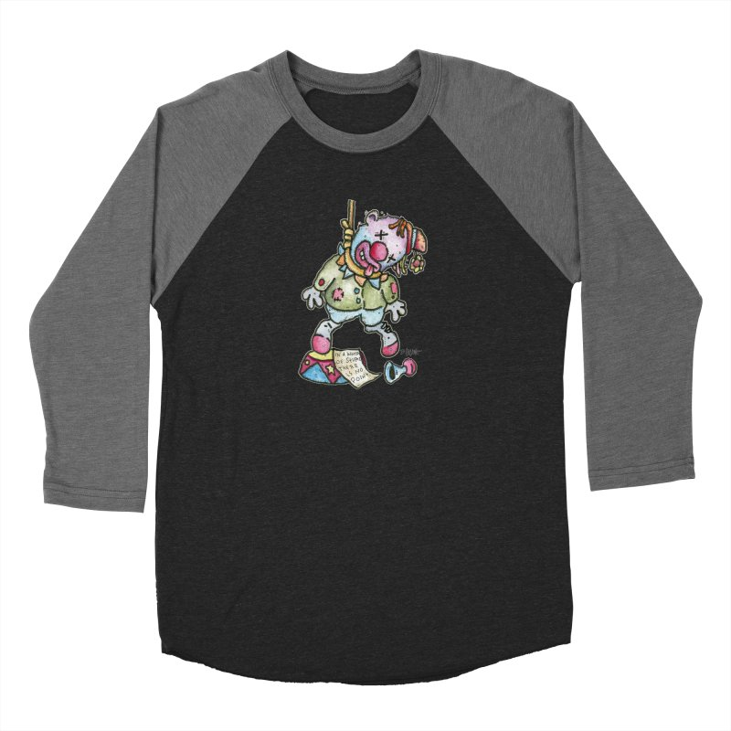 Take Out The Clowns. Men's Baseball Triblend Longsleeve T-Shirt by Bad Otis Link's Artist Shop