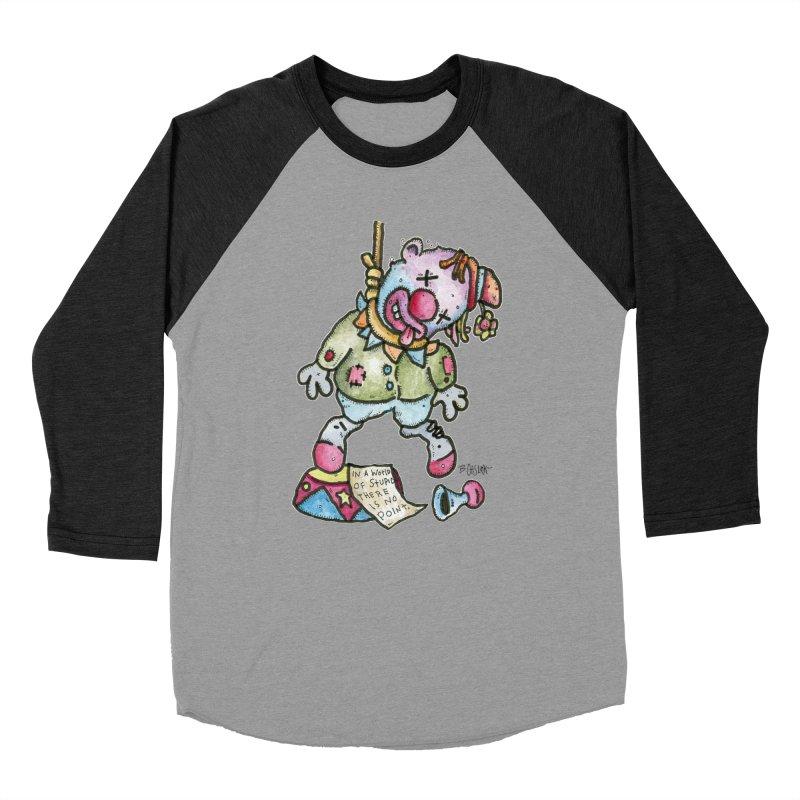 Take Out The Clowns. Women's Baseball Triblend Longsleeve T-Shirt by Bad Otis Link's Artist Shop