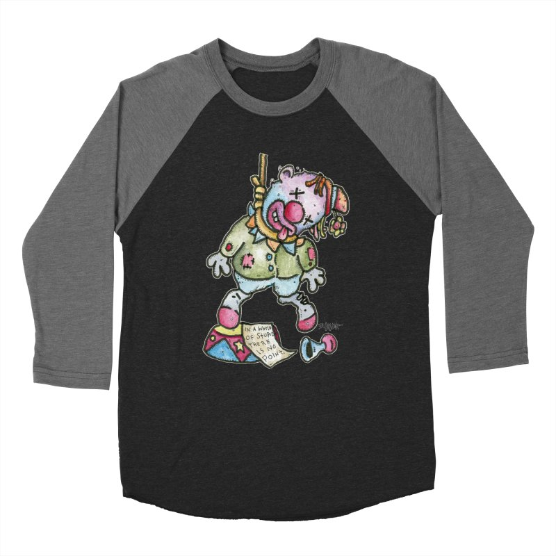 Take Out The Clowns. Men's Baseball Triblend Longsleeve T-Shirt by Bad Otis Link's Artist Shop