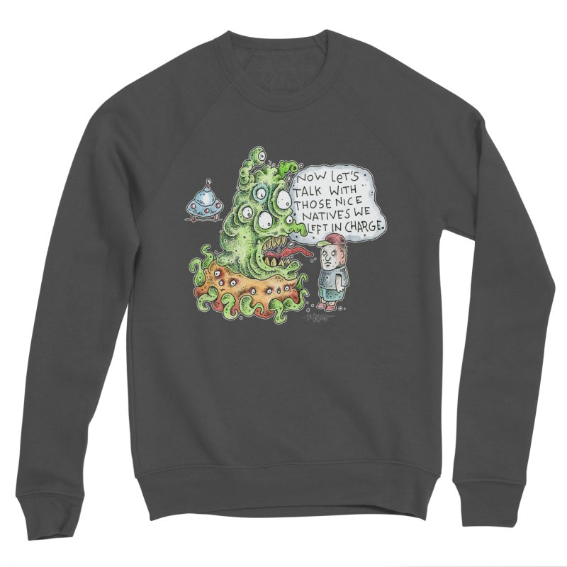 Where's The Natives? Men's Sponge Fleece Sweatshirt by Bad Otis Link's Artist Shop