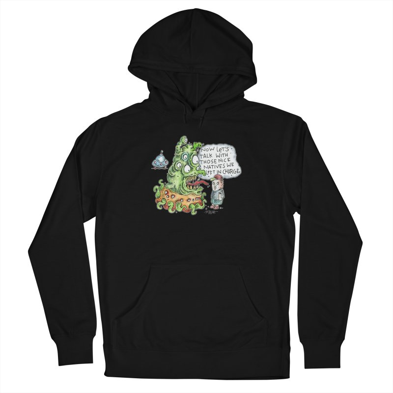 Where's The Natives? Men's French Terry Pullover Hoody by Bad Otis Link's Artist Shop