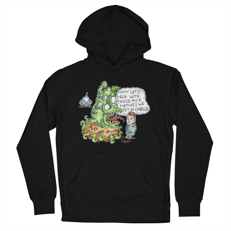 Where's The Natives? Women's French Terry Pullover Hoody by Bad Otis Link's Artist Shop