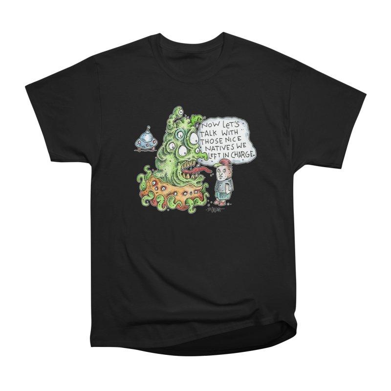 Where's The Natives? Men's Heavyweight T-Shirt by Bad Otis Link's Artist Shop