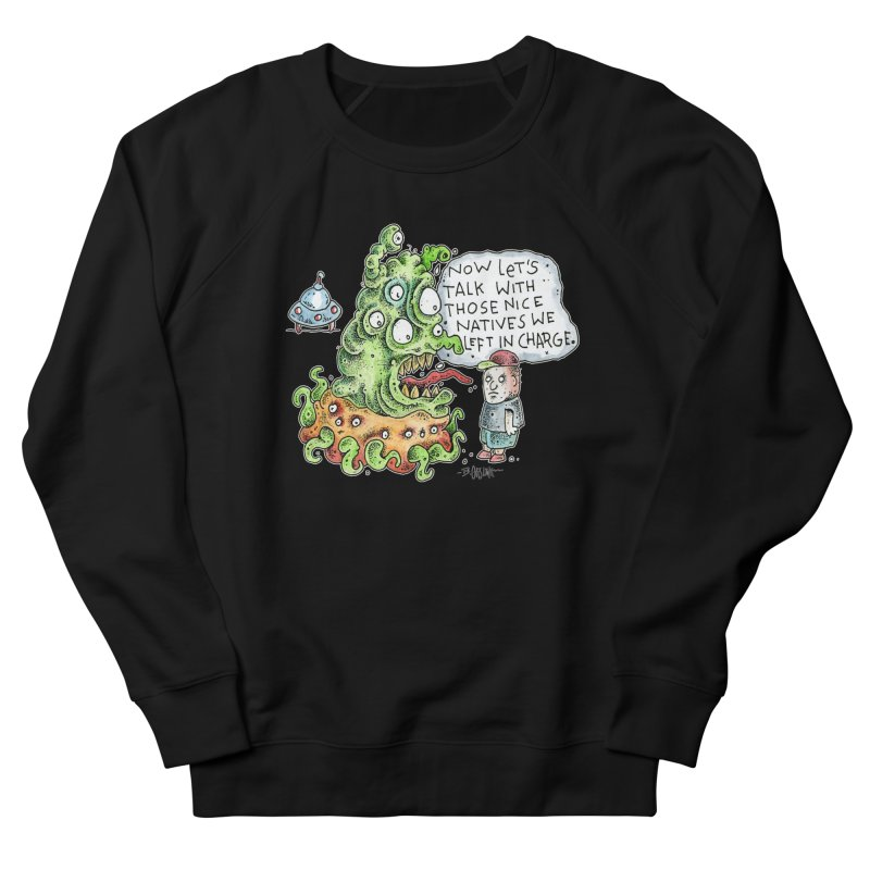 Where's The Natives? Men's French Terry Sweatshirt by Bad Otis Link's Artist Shop