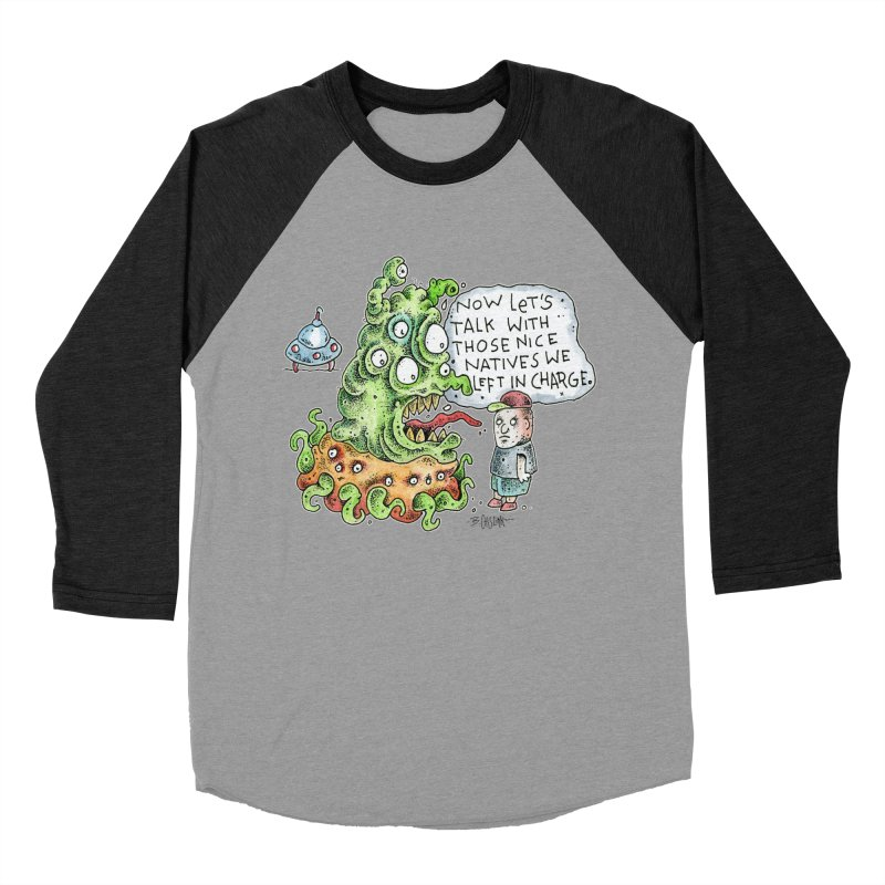 Where's The Natives? Women's Baseball Triblend Longsleeve T-Shirt by Bad Otis Link's Artist Shop