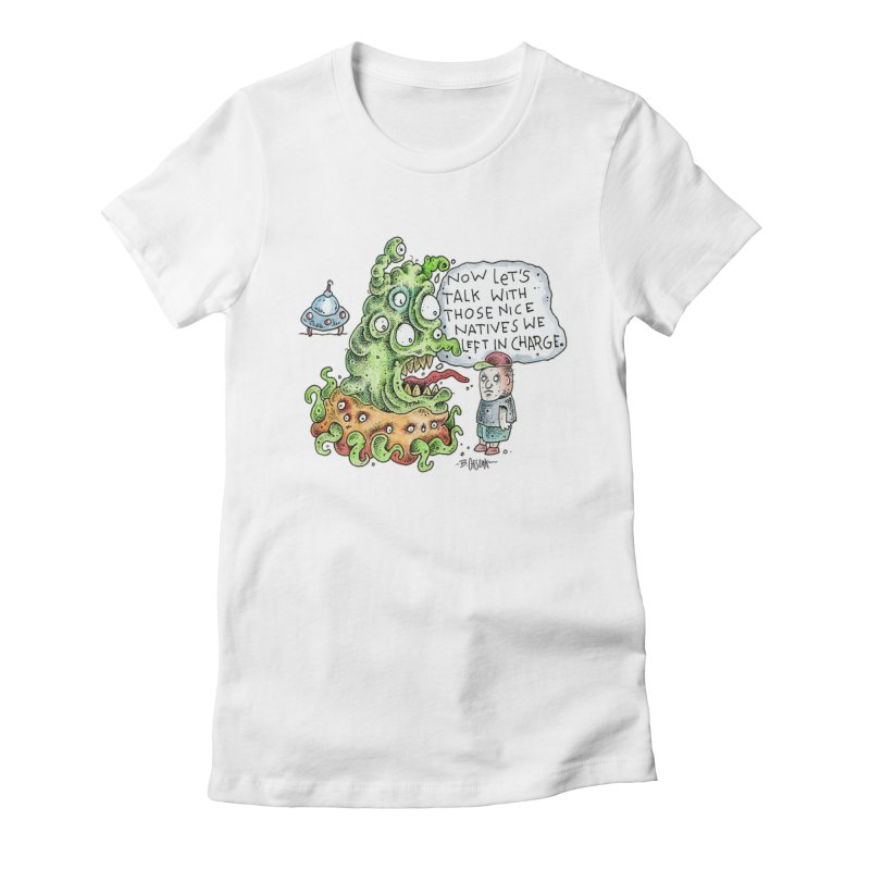 Where's The Natives? Women's Fitted T-Shirt by Bad Otis Link's Artist Shop