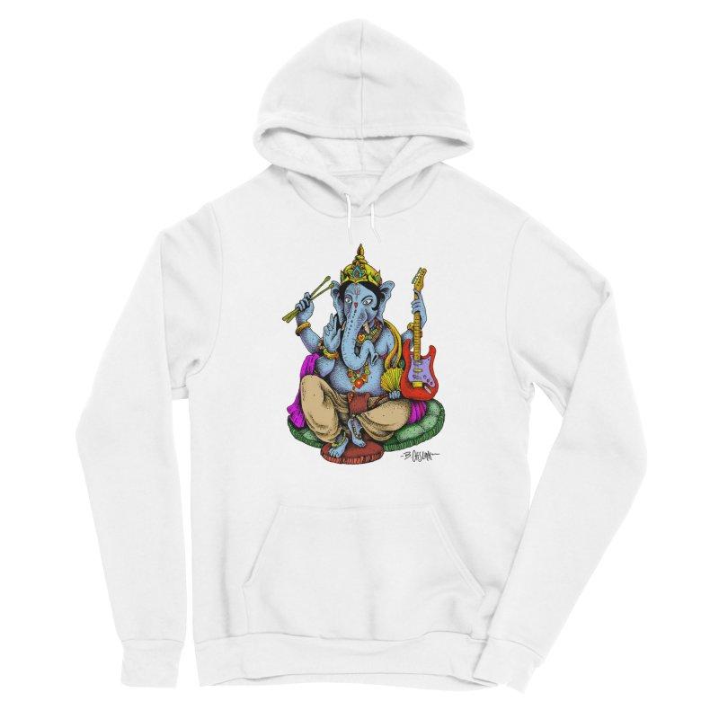 Ganesha - God of beginnings Women's Sponge Fleece Pullover Hoody by Bad Otis Link's Artist Shop