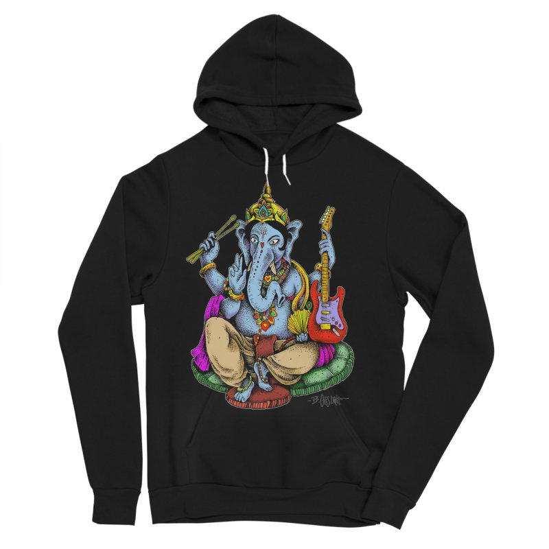 Ganesha - God of beginnings Men's Sponge Fleece Pullover Hoody by Bad Otis Link's Artist Shop