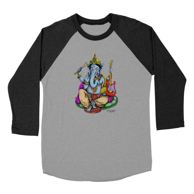 Ganesha - God of beginnings Men's Longsleeve T-Shirt by Bad Otis Link's Artist Shop