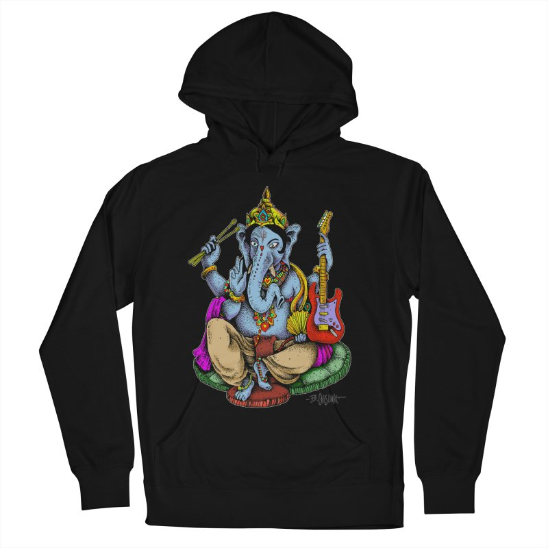 Ganesha - God of beginnings Men's French Terry Pullover Hoody by Bad Otis Link's Artist Shop