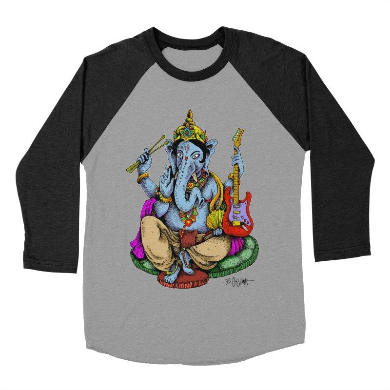 Ganesha - God of beginnings Men's Baseball Triblend Longsleeve T-Shirt by Bad Otis Link's Artist Shop