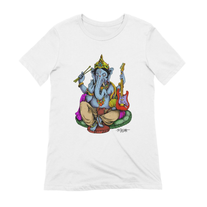 Ganesha - God of beginnings Women's T-Shirt by Bad Otis Link's Artist Shop