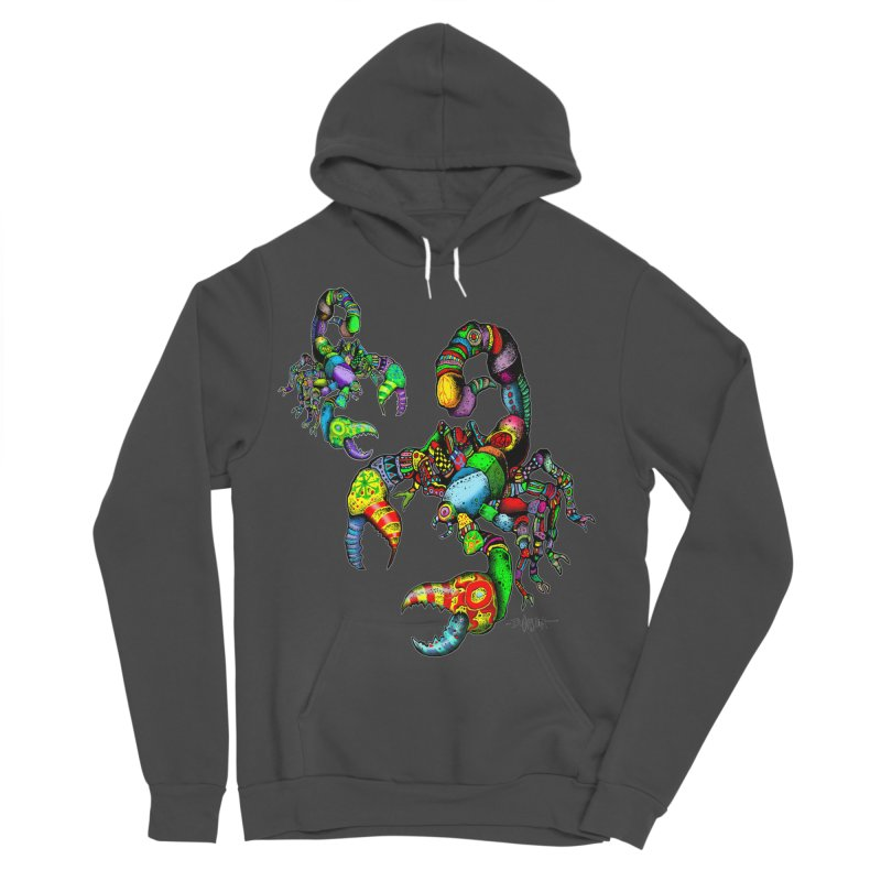 Scorpiopathic Men's Sponge Fleece Pullover Hoody by Bad Otis Link's Artist Shop