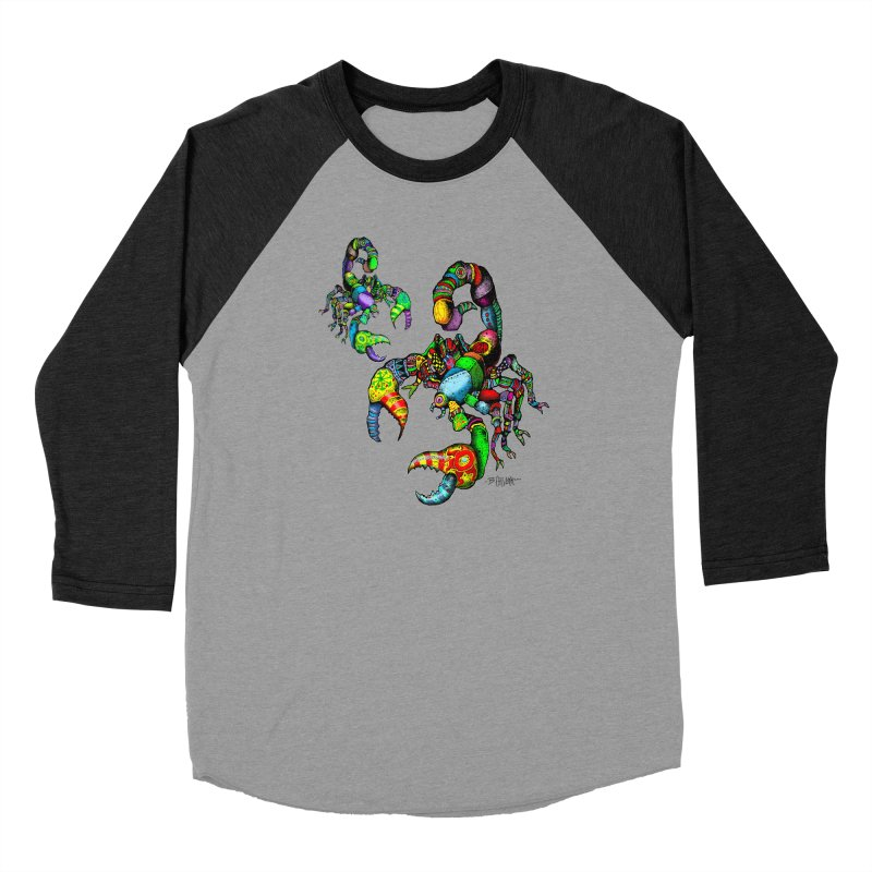 Scorpiopathic Men's Baseball Triblend Longsleeve T-Shirt by Bad Otis Link's Artist Shop
