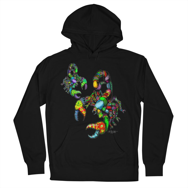 Scorpiopathic Women's French Terry Pullover Hoody by Bad Otis Link's Artist Shop