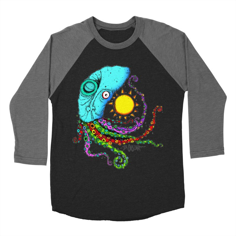 Jimmy The Squid Women's Baseball Triblend Longsleeve T-Shirt by Bad Otis Link's Artist Shop