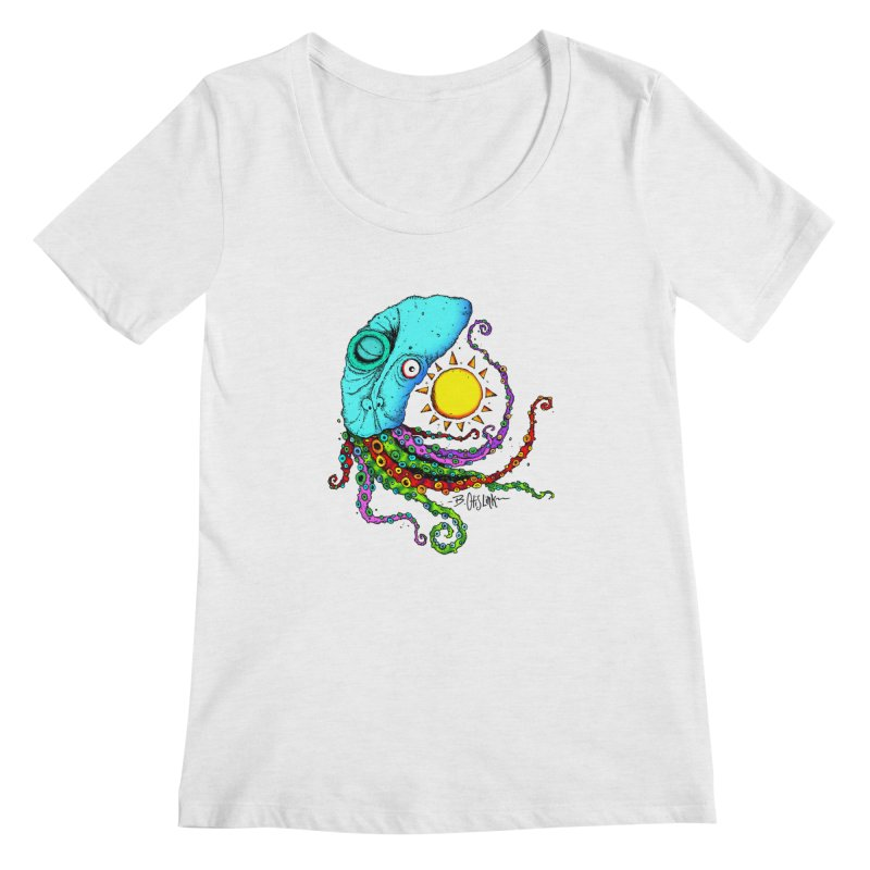 Jimmy The Squid Women's Regular Scoop Neck by Bad Otis Link's Artist Shop