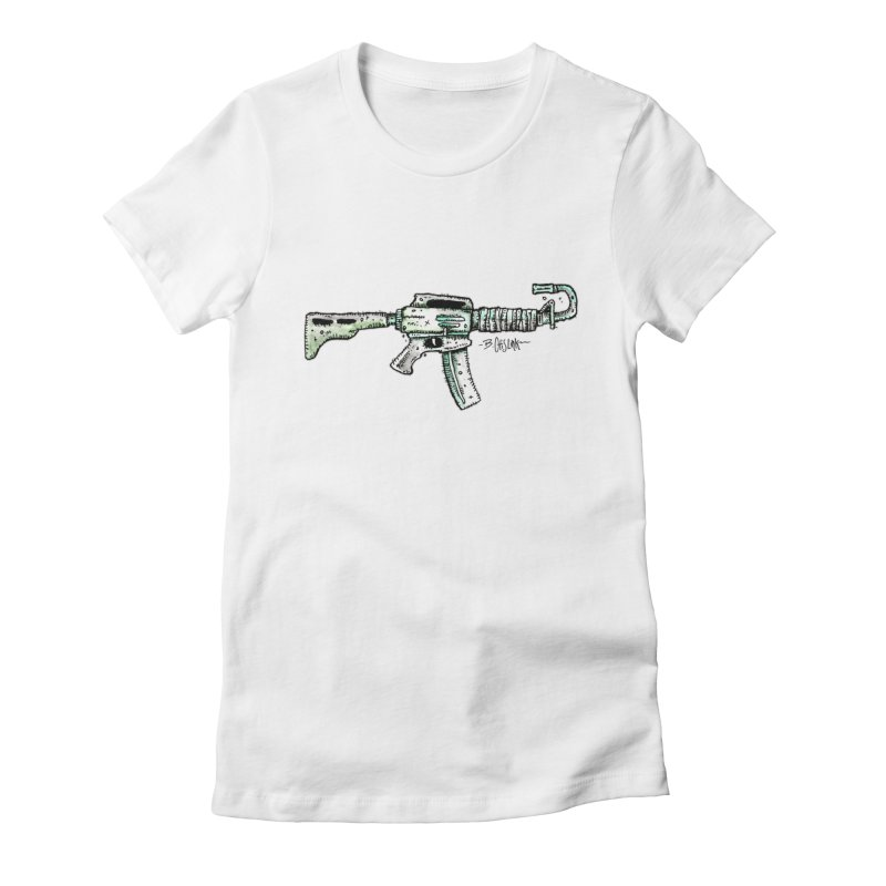 Problem Solved Women's Fitted T-Shirt by Bad Otis Link's Artist Shop