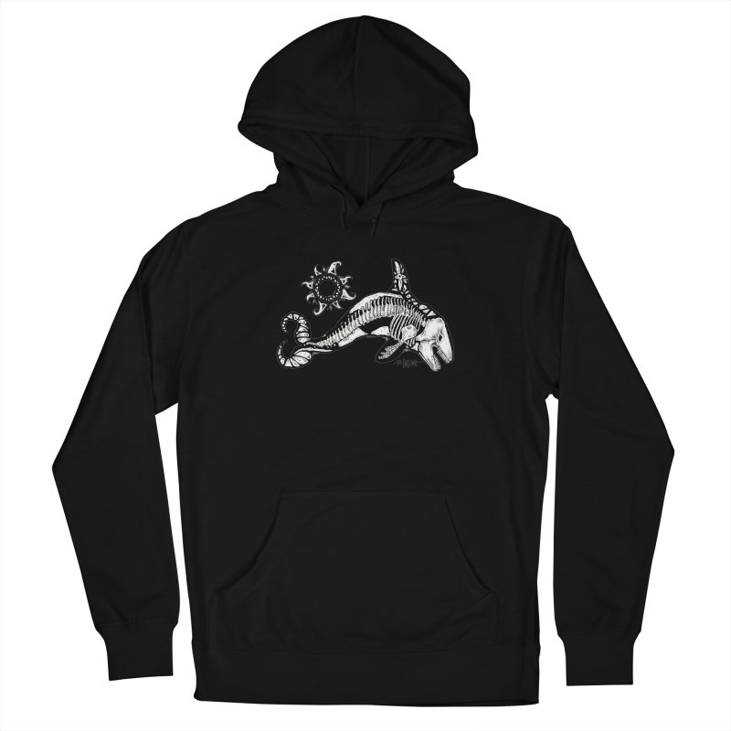 Ghost Orca Women's French Terry Pullover Hoody by Bad Otis Link's Artist Shop