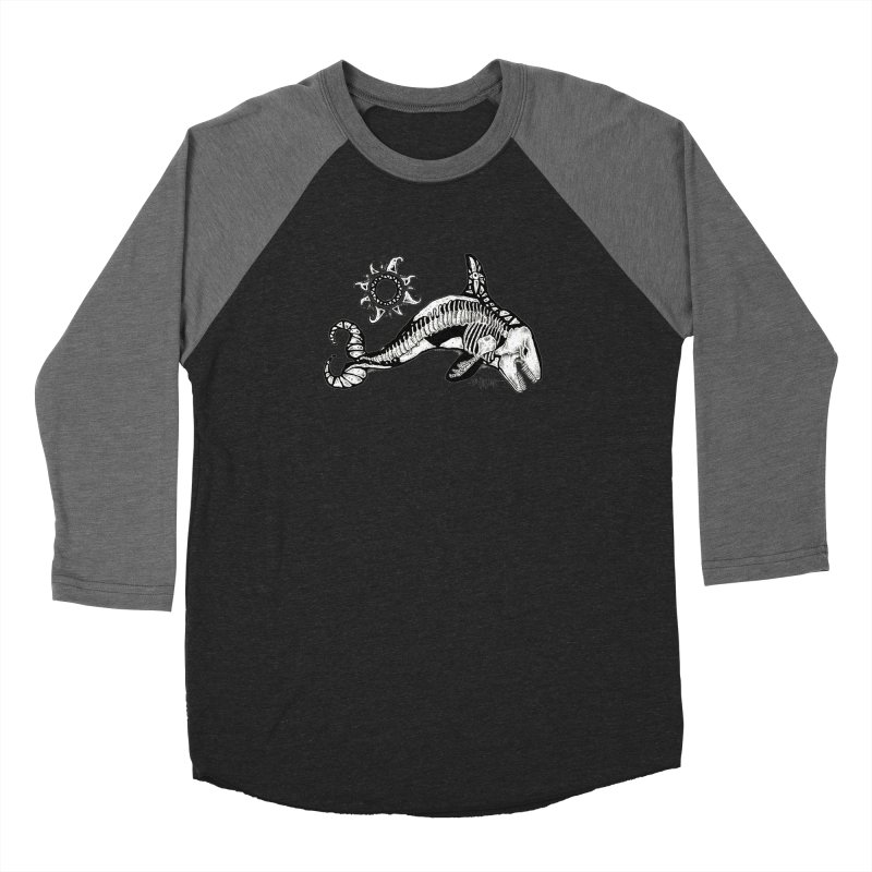 Ghost Orca Men's Baseball Triblend Longsleeve T-Shirt by Bad Otis Link's Artist Shop