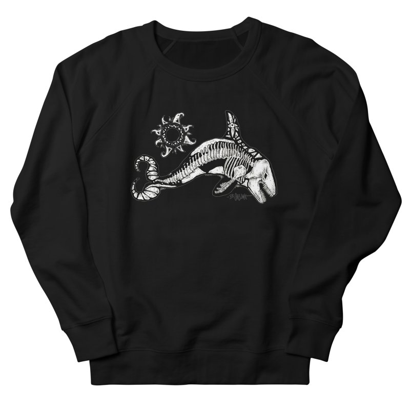 Ghost Orca Women's French Terry Sweatshirt by Bad Otis Link's Artist Shop