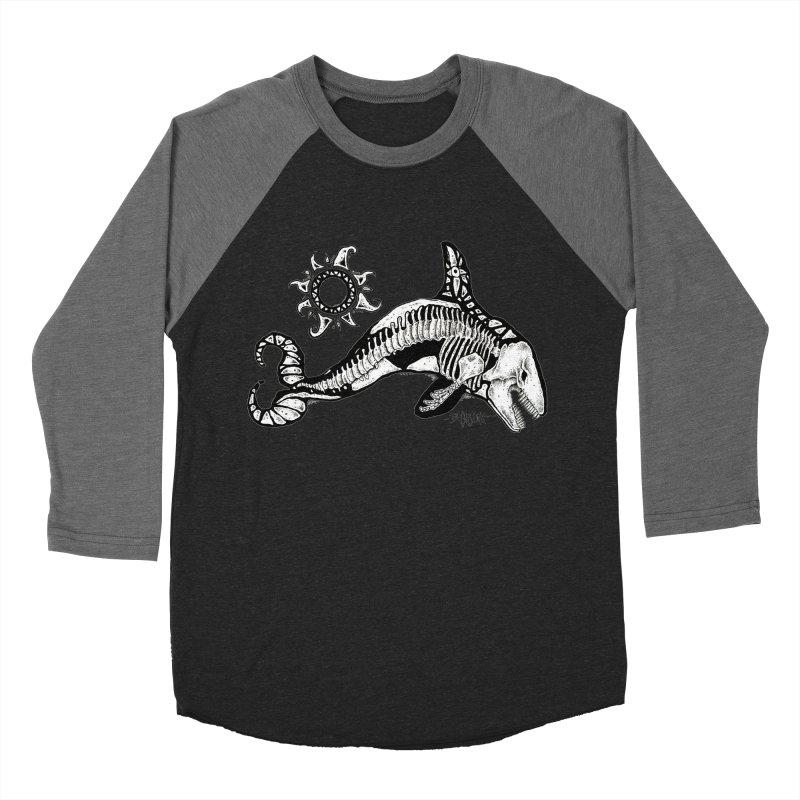 Ghost Orca Women's Baseball Triblend Longsleeve T-Shirt by Bad Otis Link's Artist Shop