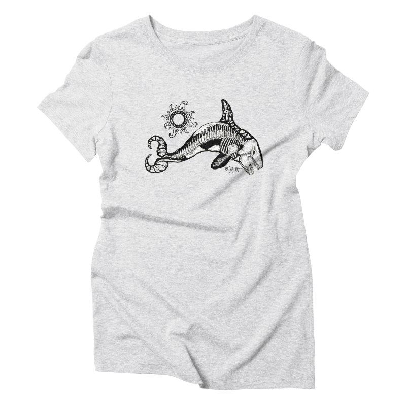 Ghost Orca Women's T-Shirt by Bad Otis Link's Artist Shop