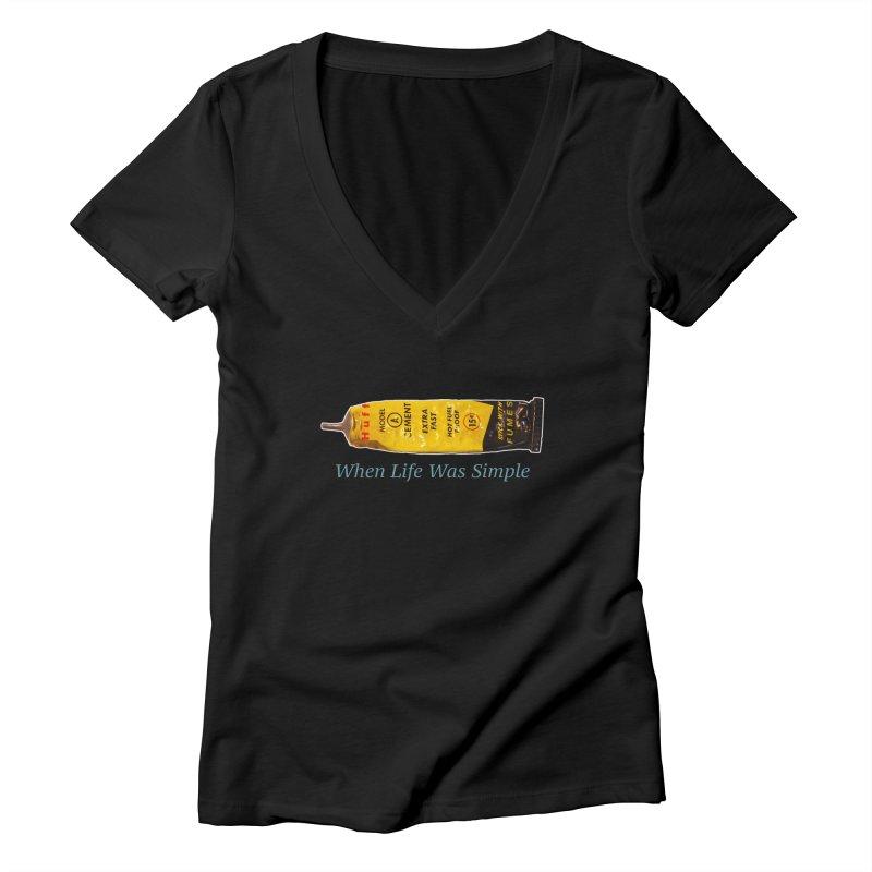 When All Else Fails... Huff. Women's Deep V-Neck V-Neck by Bad Otis Link's Artist Shop