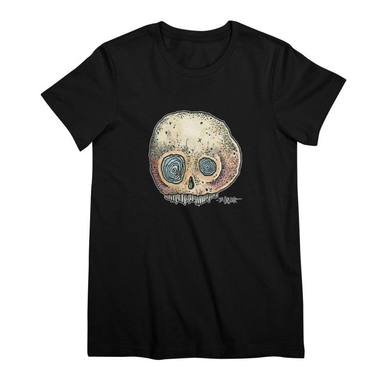 Skull Series 1 Women's Premium T-Shirt by Bad Otis Link's Artist Shop