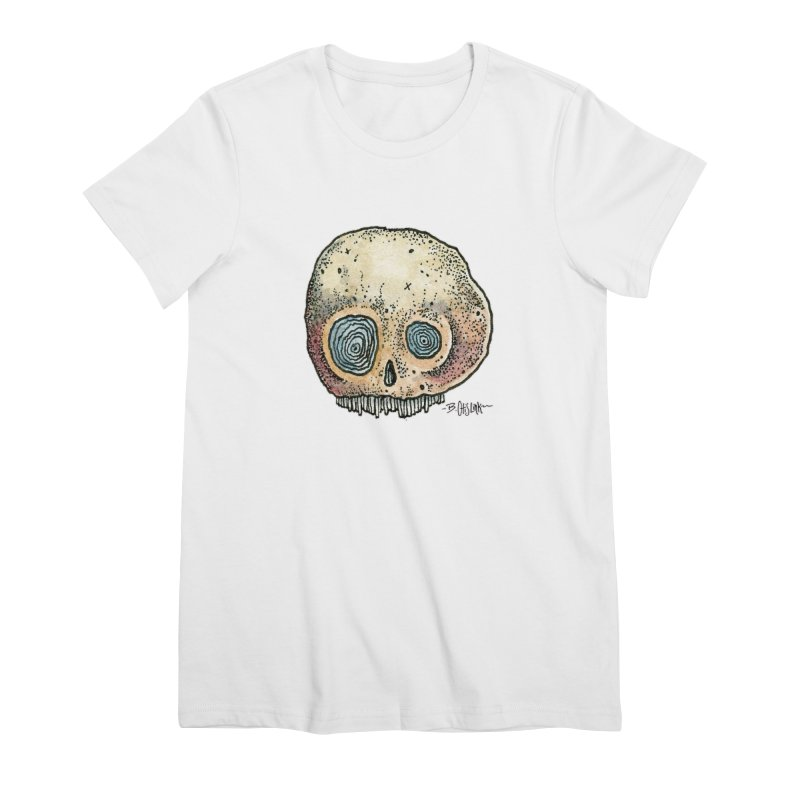 Skull Series 1 Women's Premium T-Shirt by Bad Otis Link's Artist Shop