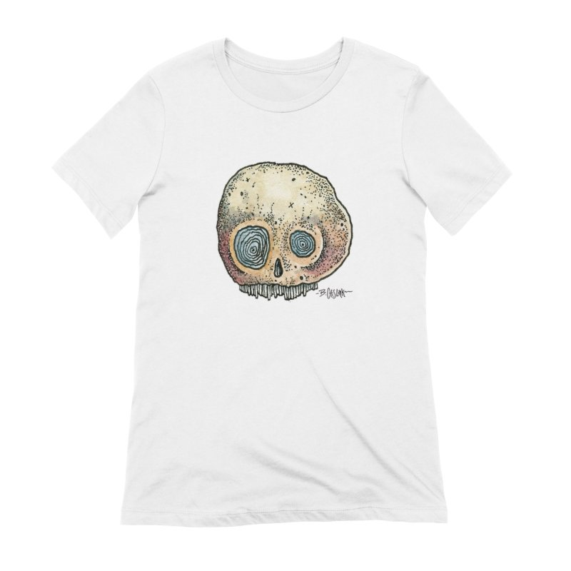 Skull Series 1 Women's Extra Soft T-Shirt by Bad Otis Link's Artist Shop