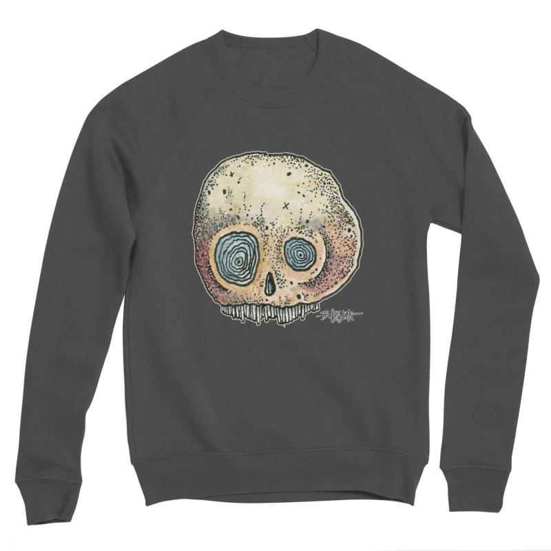 Skull Series 1 Men's Sponge Fleece Sweatshirt by Bad Otis Link's Artist Shop