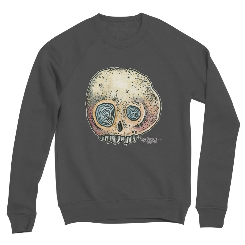 Skull Series 1 Women's Sponge Fleece Sweatshirt by Bad Otis Link's Artist Shop