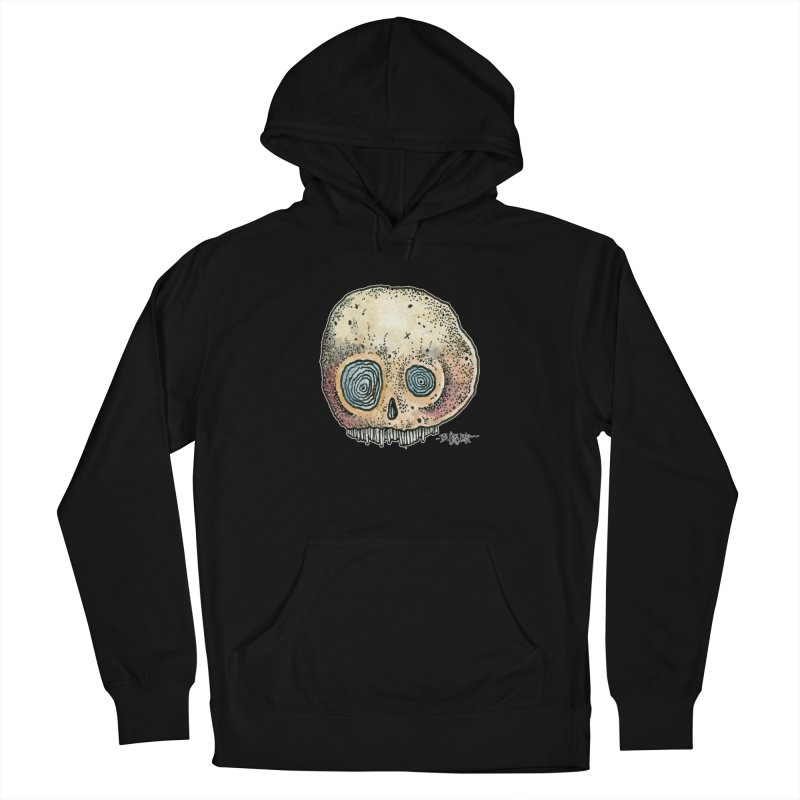 Skull Series 1 Women's French Terry Pullover Hoody by Bad Otis Link's Artist Shop