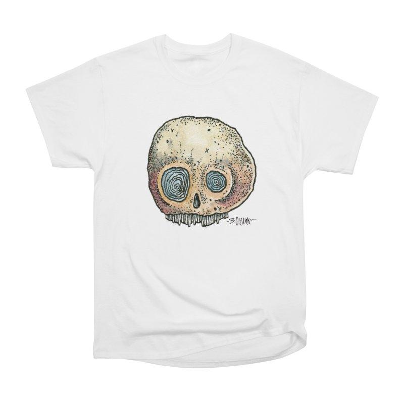 Skull Series 1 Women's Heavyweight Unisex T-Shirt by Bad Otis Link's Artist Shop