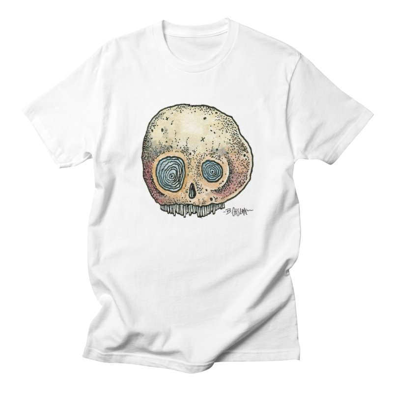 Skull Series 1 Men's Regular T-Shirt by Bad Otis Link's Artist Shop