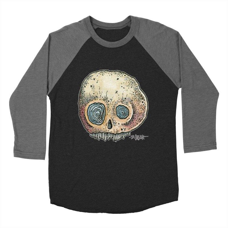 Skull Series 1 Women's Baseball Triblend Longsleeve T-Shirt by Bad Otis Link's Artist Shop