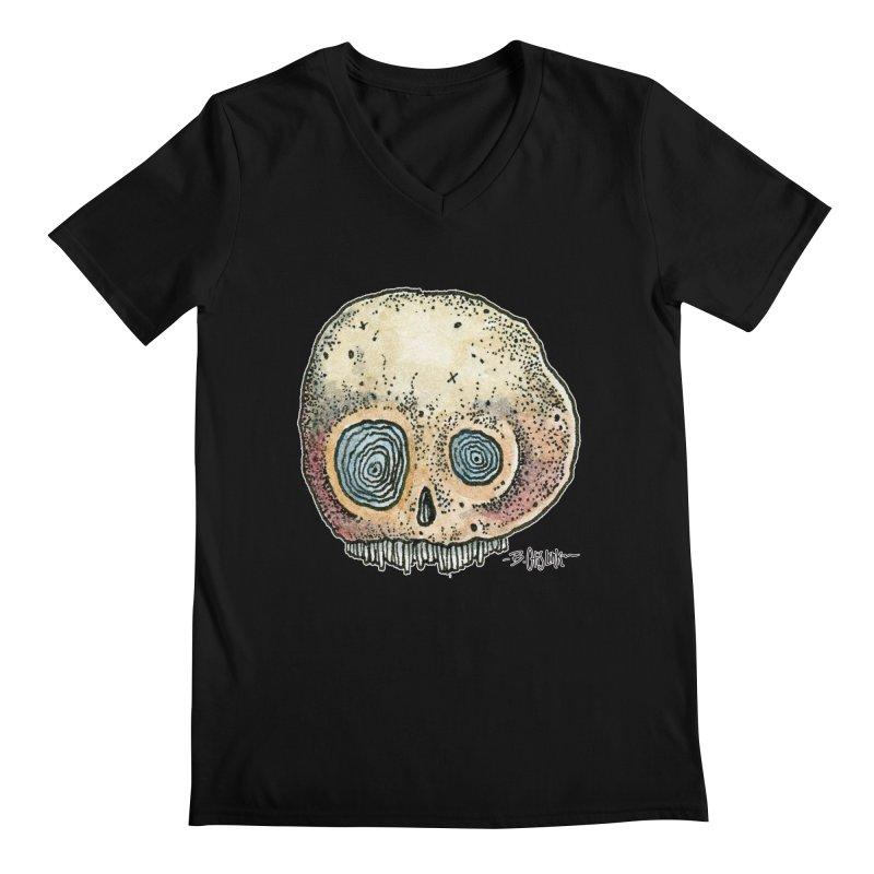 Skull Series 1 Men's V-Neck by Bad Otis Link's Artist Shop
